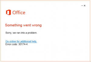 office error code 30174-22